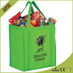 Reinforced handle cheap pp non woven bag custom recycle non woven shopping bag