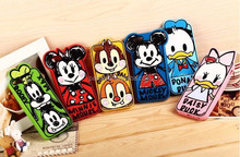 original design high quality silicon cases mickey minnie donald daisy chip dale goofy max case for cell phone for iphone 5 5s