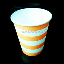 Single wall stripe pattern disposable drinking 180ml ice cream paper cup