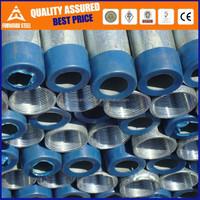 Screw threaded galvanized pipe/threaded coupling/threading galvanized steel pipe