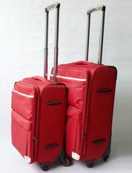 foldable trolley case polyester high quality eva luggage trolley