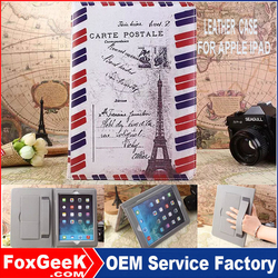 2015 Hot Selling Tablet Case Ultra Slim Case for iPad Air ,Book Cover with 11 classic pattern US flags for iPad mini