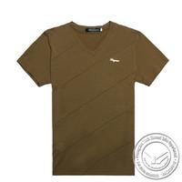 embroideredmanufacter spandex/cotton 95%+baumwolle+5%+elasthan+tshirt