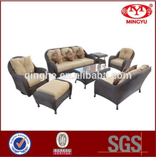 QHA-2049 Hot sell outdoor furniture & new design PE rattan sofa set & outdoor furniture with cushions