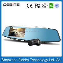 2015Newest Full hd 4.3inch Bluetooth dual lens car driving video recorder
