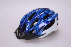 High quality bicycle sport helmet outdoor , fashion PC in-mold helmet , helmet with durable black EPS protective