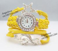 звезды музыкальные браслет 3шт/много наручные часы желтый Канат кожаные браслеты шарм женщин ювелирных