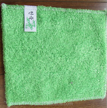 Green color dishcloth and clean cloth 100% bamboo Fiber Washing dish Special weaving method and use four storey structure
