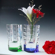 Antique Glass Flower Vase For Exhibition Show Decoration
