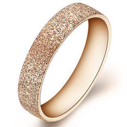 dust stainless steel ring 18k gold plated