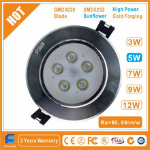 CE RoHS SAA C-tick High Power 3W 5W 7W 9W 12W Recessed LED Downlight