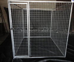 ISO9001 Factory Heavy duty galvanized welded wire outdoor large dog kennel wholesale