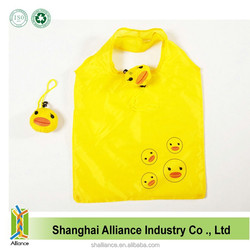 Duck Shape Resuable Eco Nylon Wholesale Tote Foldable Shopper Bag