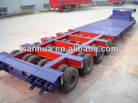 Heavy Payload 4 Axles 100 Ton Lowboy Trailer