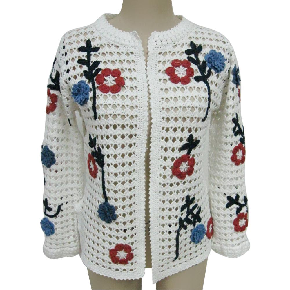 Handmade flower design buy women s crochet sweater women sweaters