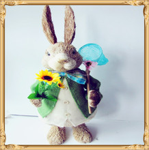 best popular product rabbit decoration made of grass