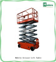 Self propelled 8-14m aerial working hydraulic mini lift work platform/scissor platform lift
