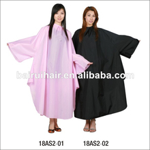 210T nylon salon hair coloring cape with PU coating long sleeves