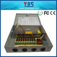 CCTV power supply box 250W DC12V Multiple output 18 channel AC 110/220V