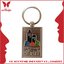 Customized design gold buses keychain