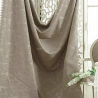 flat embossing linen fabric for curtains, elegant pattern blackout curtain fabric