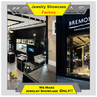 Decoration ideas jewelry and watch cabinet for shopping mall kiosk design