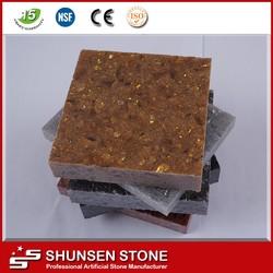 Home interior decorator tile of China crystal shining golden quartz stone JF6