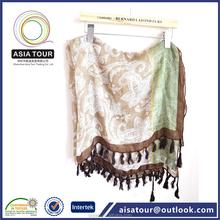 De moda del pañuelo de la bufanda Paisley patrón sólido teñido mantón antiguo Paisley <span class=keywords><strong>chales</strong></span>