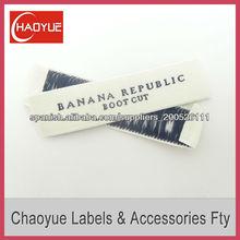 Etiqueta personalizada tejido/barato de la etiqueta tejida