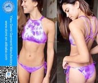 Latest fashion bikini for women tie dye tankini hot sex images bikini