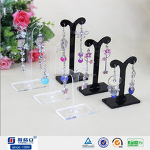 Clear Acrylic/Perspex Ear Stud,eardrop,finger ring holders for jewelry display stand,jewelry kiosk design