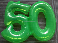 pvc colorful inflatable advertising number model