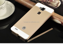High Quality New Ultra thin Aluminum Metal Frame + PC Hard Back Cover Case For Huawei Ascend Mate 7 Phone Cover Case