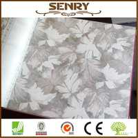 Non-woven wallpaper leaf wall paper grey wall paper girls room wall paper gold