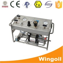 air driven gas booster Borehole water Pressure Testing machine,measuring equipment for oil with wellhead control systems