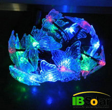 3.9 meter RGB color changing butterfly led solar Christmas light for holiday decoration IB-SL-006