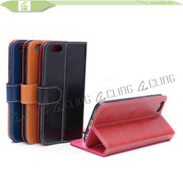 factory directly leather wallet cell phone case for samsung galaxy s6 edge case new 2015, accesories for galaxy s6