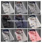 Novo 2015 de manga curta camisa xadrez TC 65 35 de alta qualidade