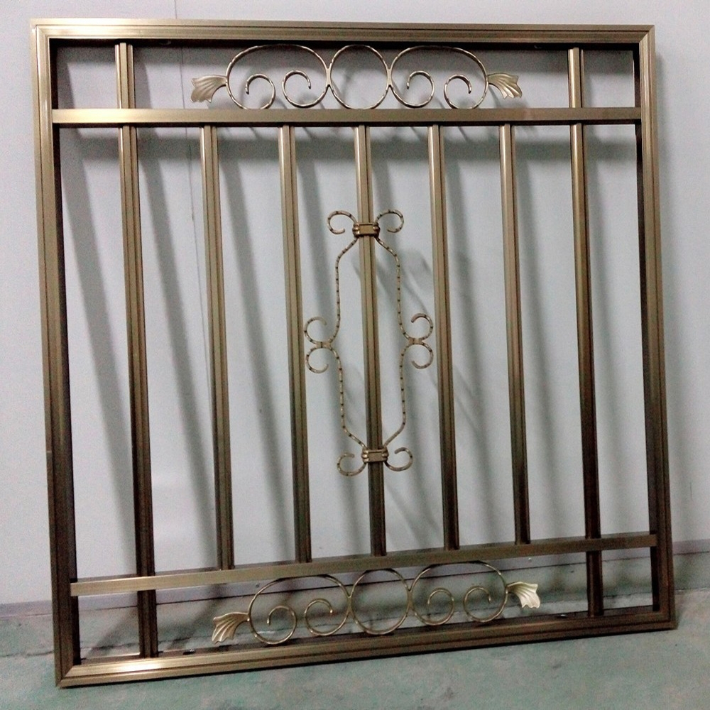 Decorative security iron simple window grills buy window for Iron window design house