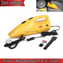 Hot sales 2 in 1 Inflator DC12V 300PSI Air Compressor Portable Handheld Car Home Dust Vacuum Cleaner