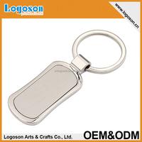 Custom LOGO design promotional keychain wholesale blank keychain/keyring