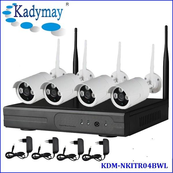 Ventes chaudes AHD Caméra Kits 1.0 M 1.3 M 2.0 M Wifi IP caméra Avec NVR Kit En Plein Air Pas Cher CCTV Caméra 4chl NVR KIT