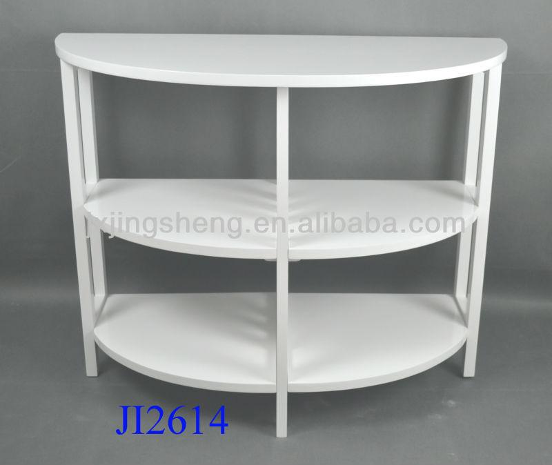 Moderni in legno massello bianco semi - rotondo comodino-Comodino-Id prodotto:687816194-italian ...