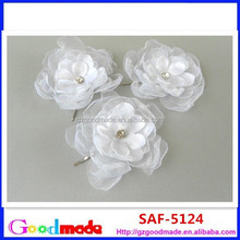 bridal white flower hair pin as wedding flower hairpins and wedding acessories