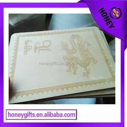 Custom made private company business card/No MOQ engraved words wooden name card/wood card