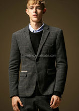 2015 Men's Fashion Grey Tailored Casual Suit from Suit Factory's Direct Custom