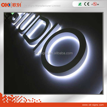 Colorful LED 3D steel backlit alphabet letter