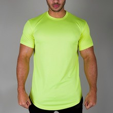 bright polyester round hem sports blank dri fit t-shirts wholesale
