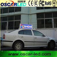 High resolution led taxi top advertising taxi roof top advertising screen/advertising board for cars