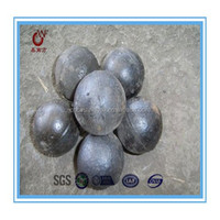 High Impact Value Hot Rolled Grinding Media Steel Balls , Precision Steel Balls for Ball Mill